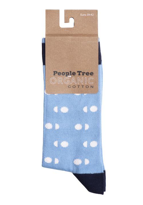 Double Dot Socks In Blue