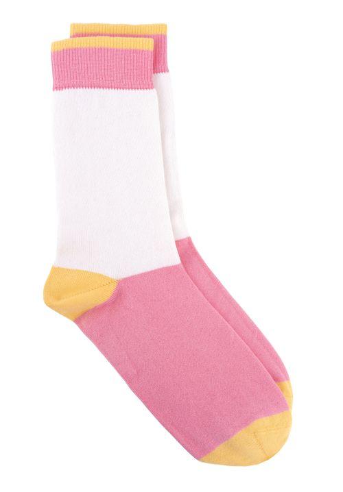 Colourblock Socks In Pink