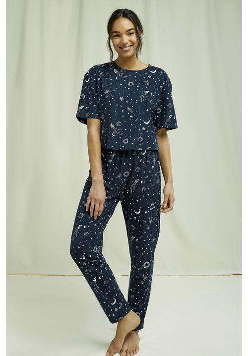 Starlight Cropped Pyjama Tee