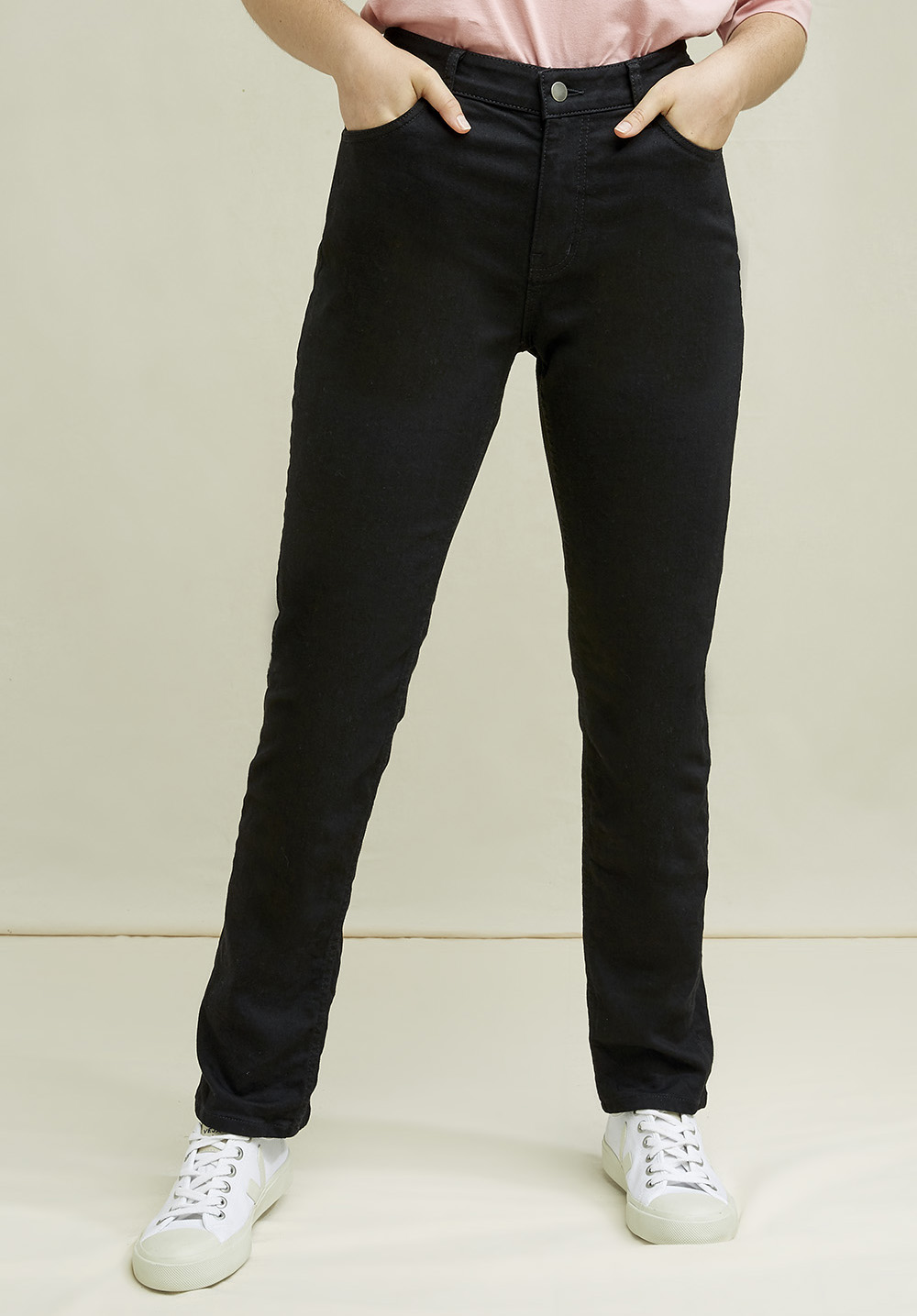 Heather Slim Fit Jeans In Black