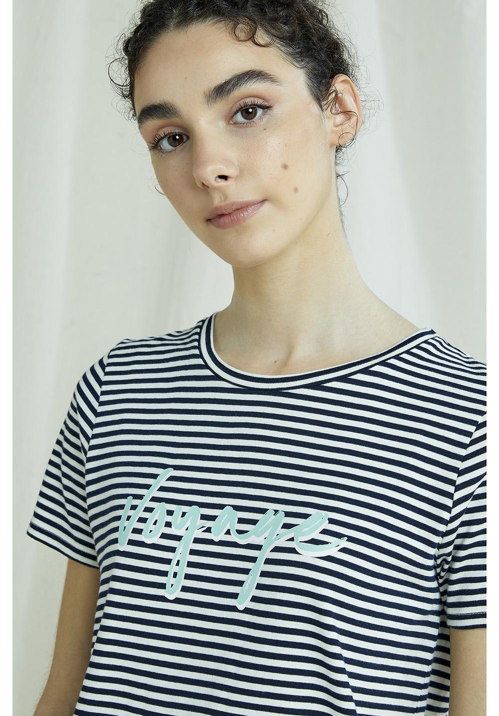 Voyage Stripe Print Tee