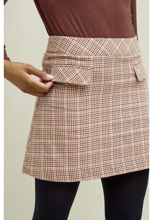 Rosa Houndstooth Skirt