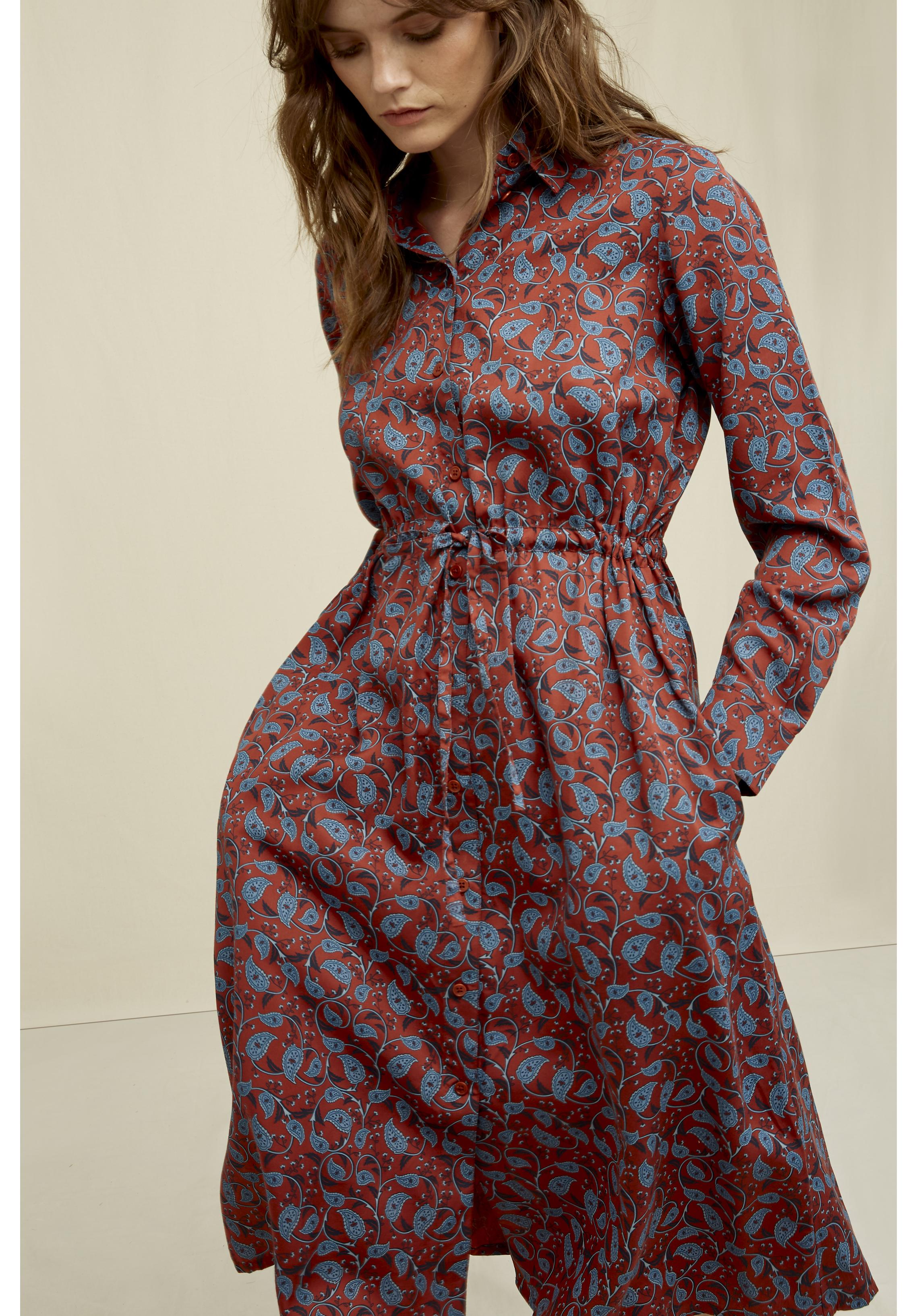 Aislinn Paisley Shirt Dress