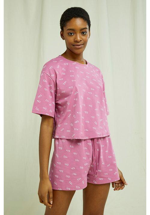 ZZZ's Cropped Pyjama Tee