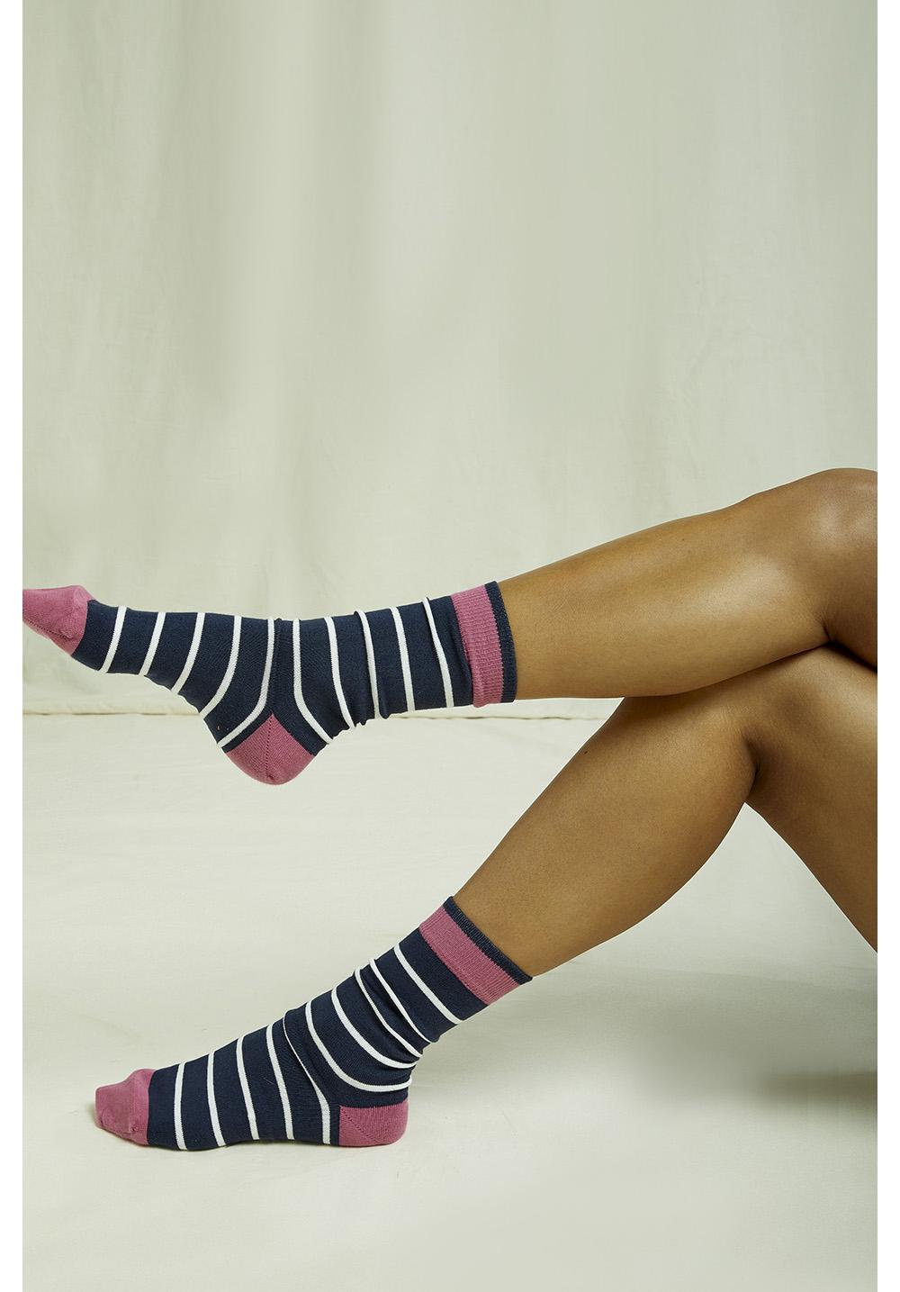 Navy Stripe Socks