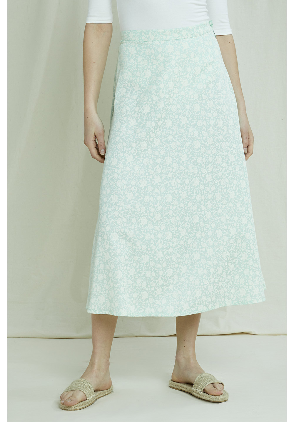 Alison Silhouette Floral Skirt