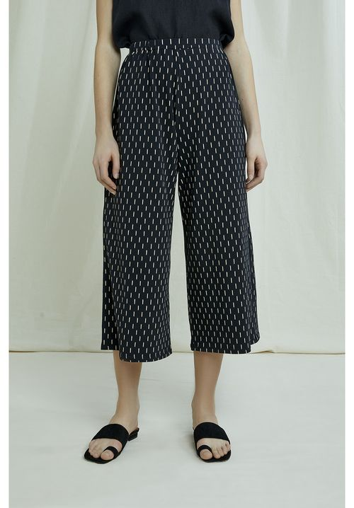 Chandre Ikat Print Trousers
