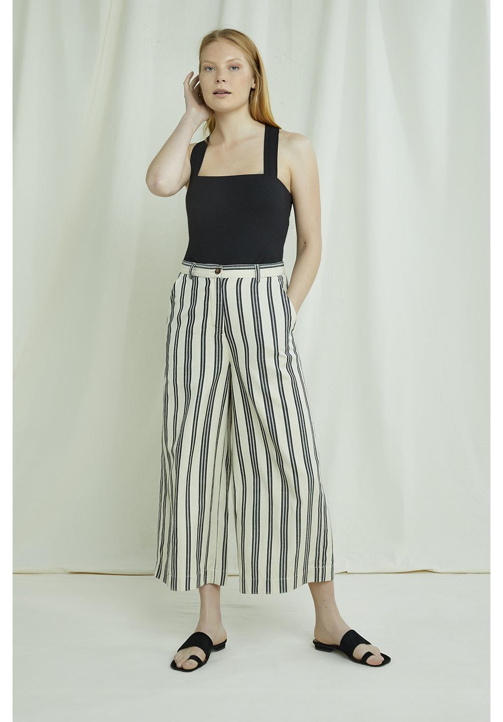 Shauna Striped Trousers