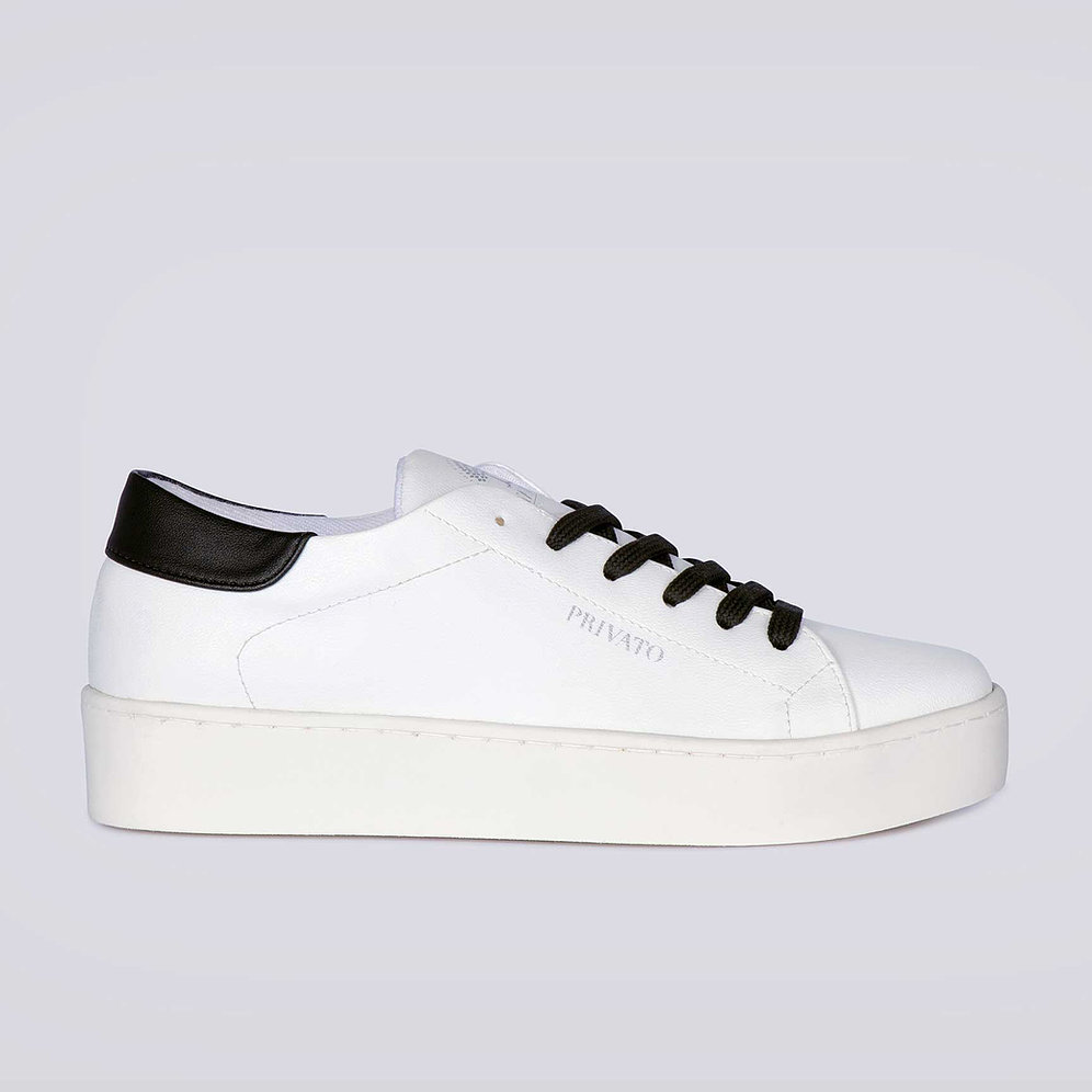 VEGAN SHOES - CHIARA ELISA CORN WHITE BLACK