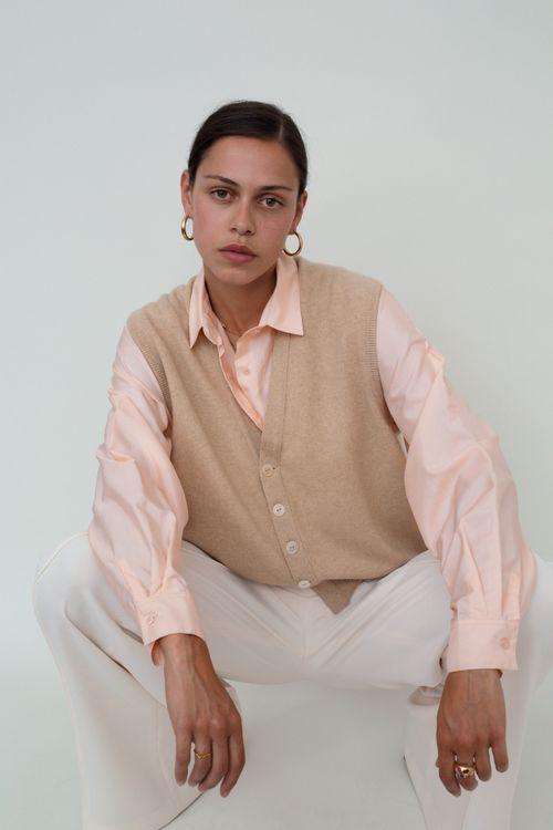 Soft cashmere vest