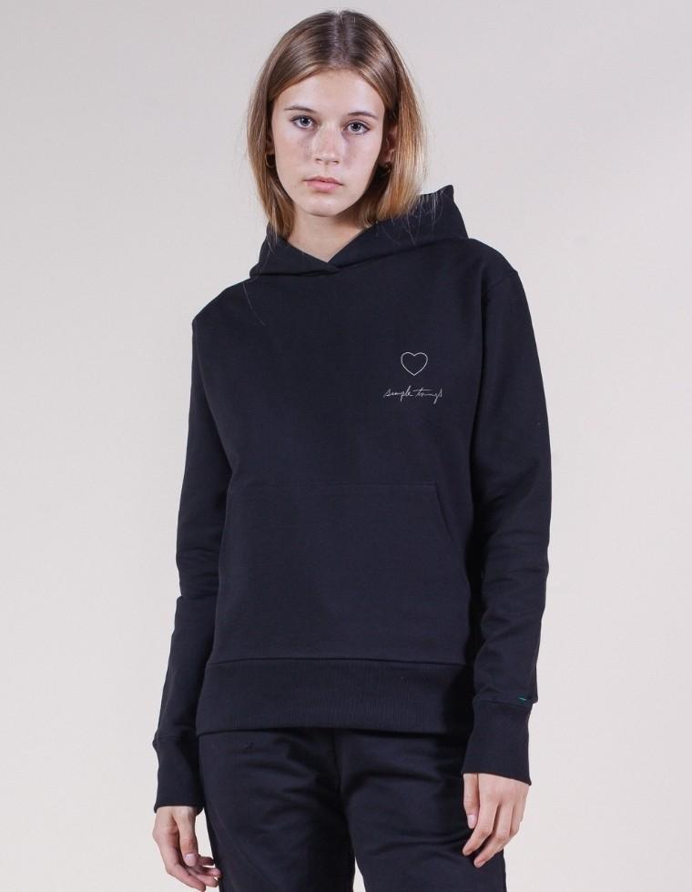 Unisex hoodie in organic cotton - black | Re-Bello