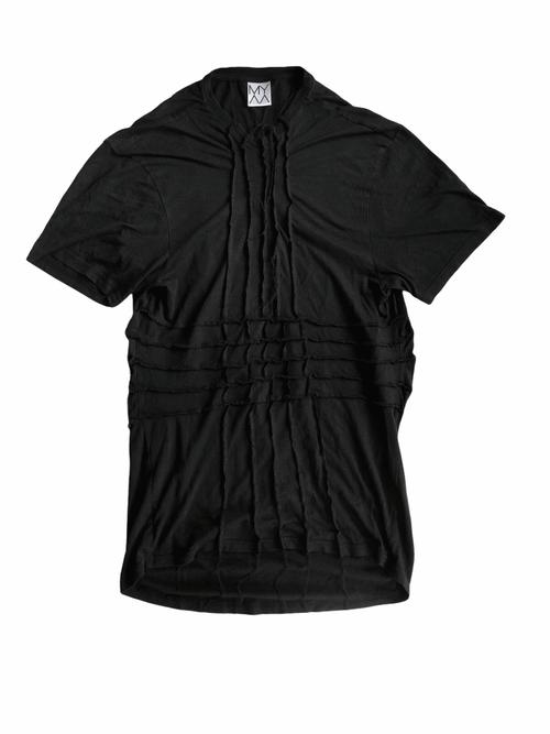 Black Overlocked T-Shirt Dress Inside Out