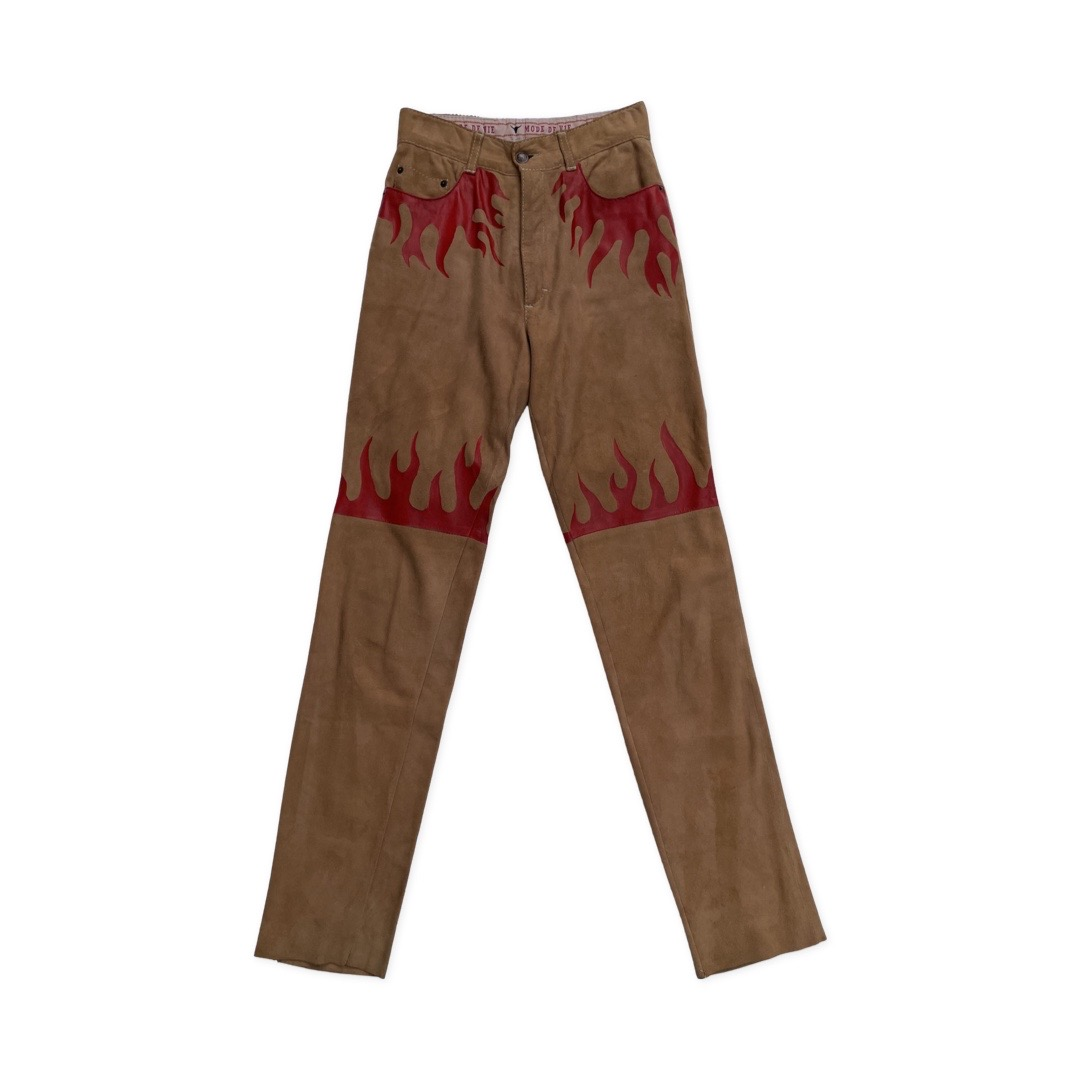 FLAME SUEDE PANTS