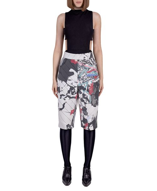 wasteart = statement pants in quilted fabric