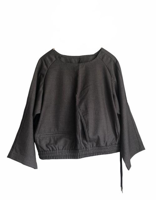 Grey Upcycled Pants-Shirt