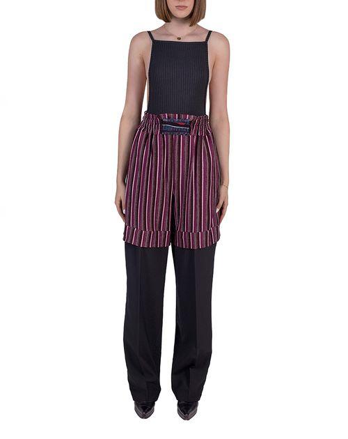 Layered upcycled pants