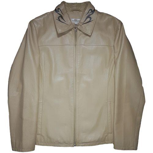 Tttristesse Beige Leather Jacket
