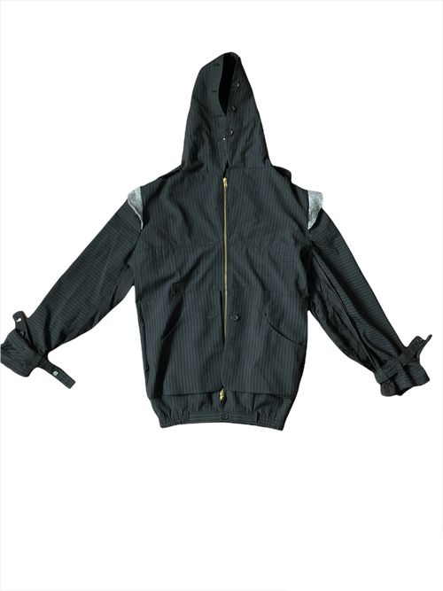 Deconstructed Pinstripe Jacket