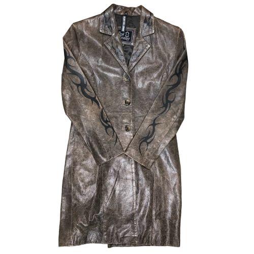 Tttristesse Long Leather Coat