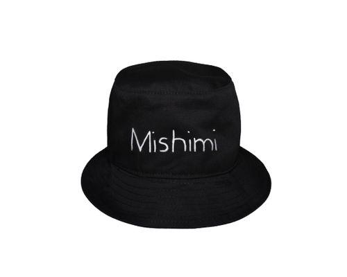 Playful Black Bucket Hat