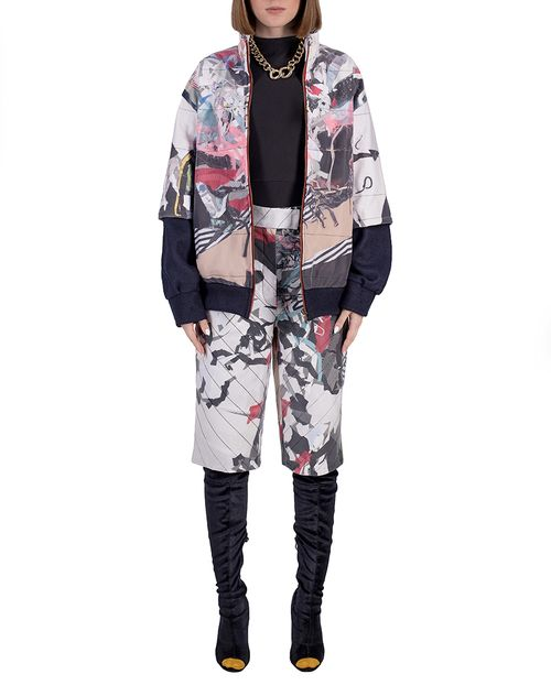 wasteart = statement zipped jacket in quilted fabric