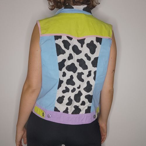 """Trashy Queen """"Cowgirl"""" Hand Painted Vest"""