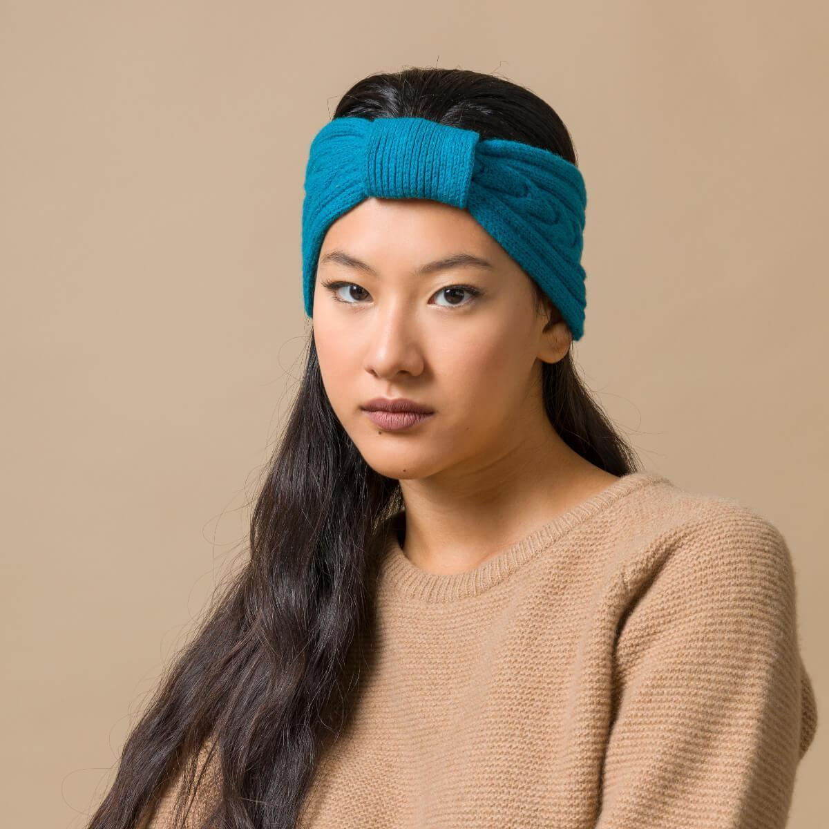 Recycled Cashmere Headband Woman Antonella