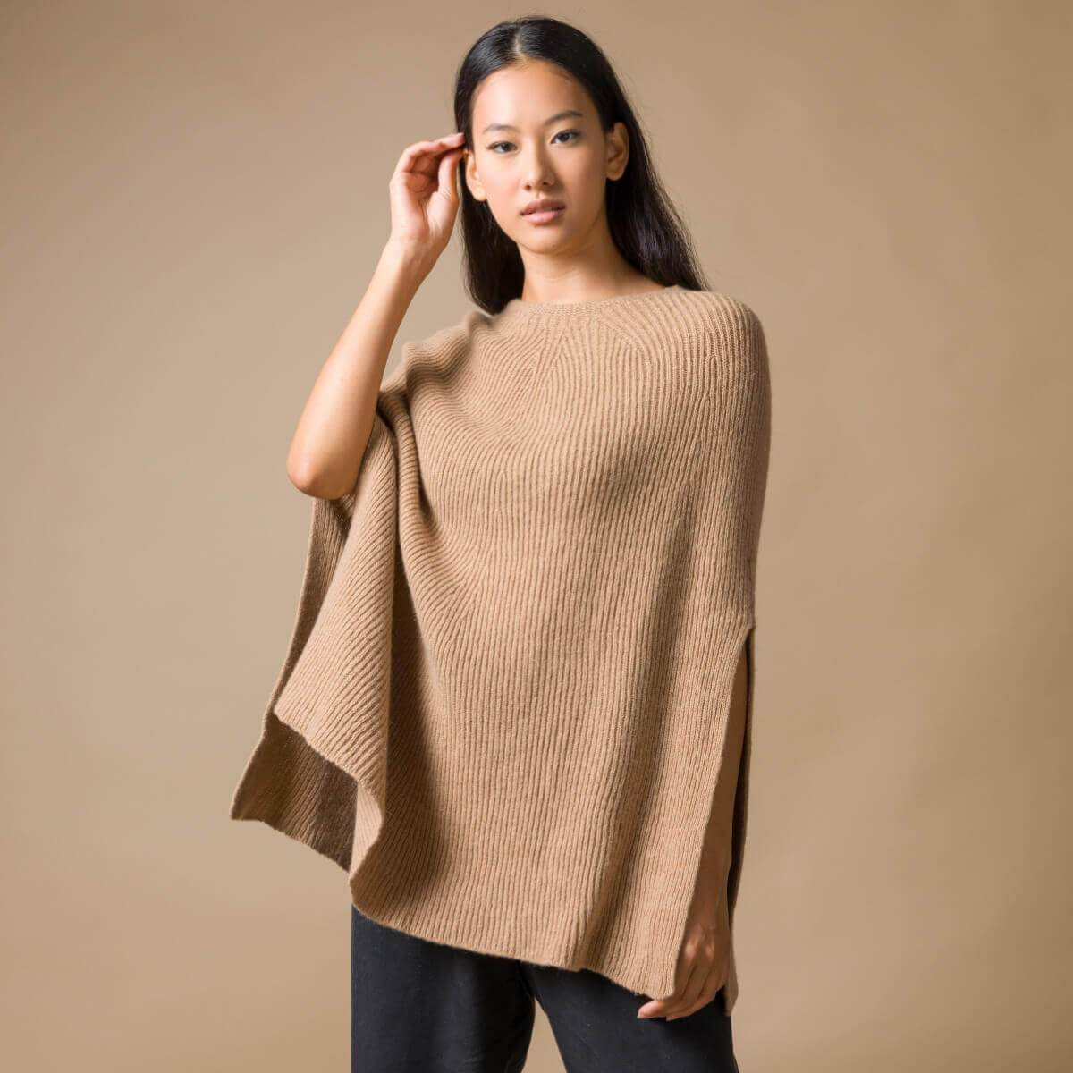 Recycled Cashmere Poncho Anna