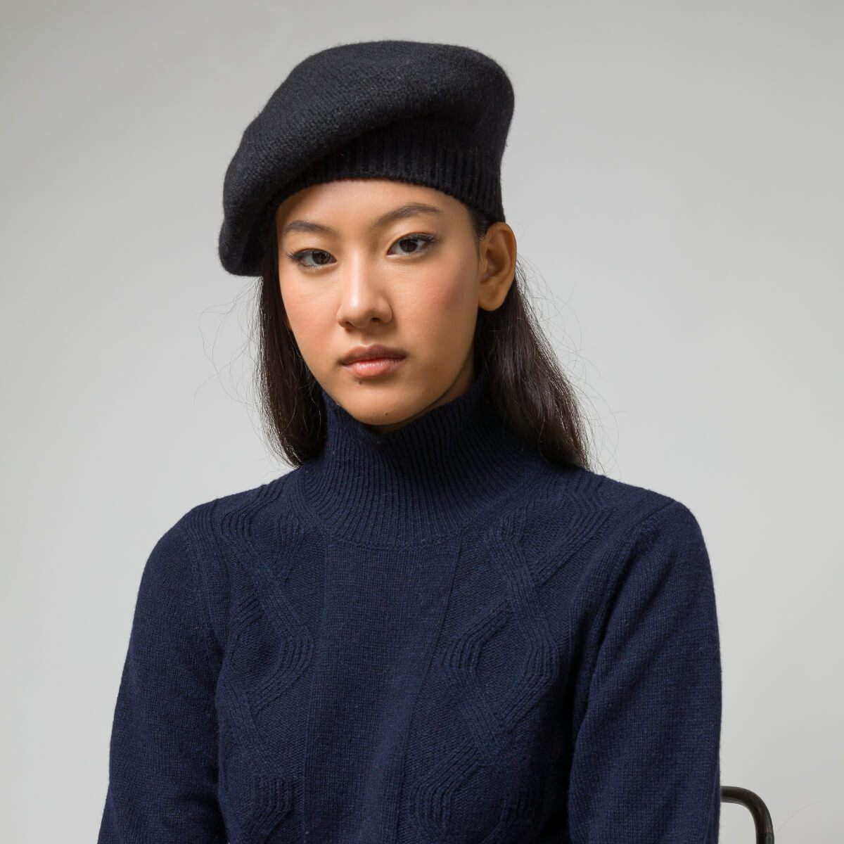 Recycled Cashmere Beret Nives