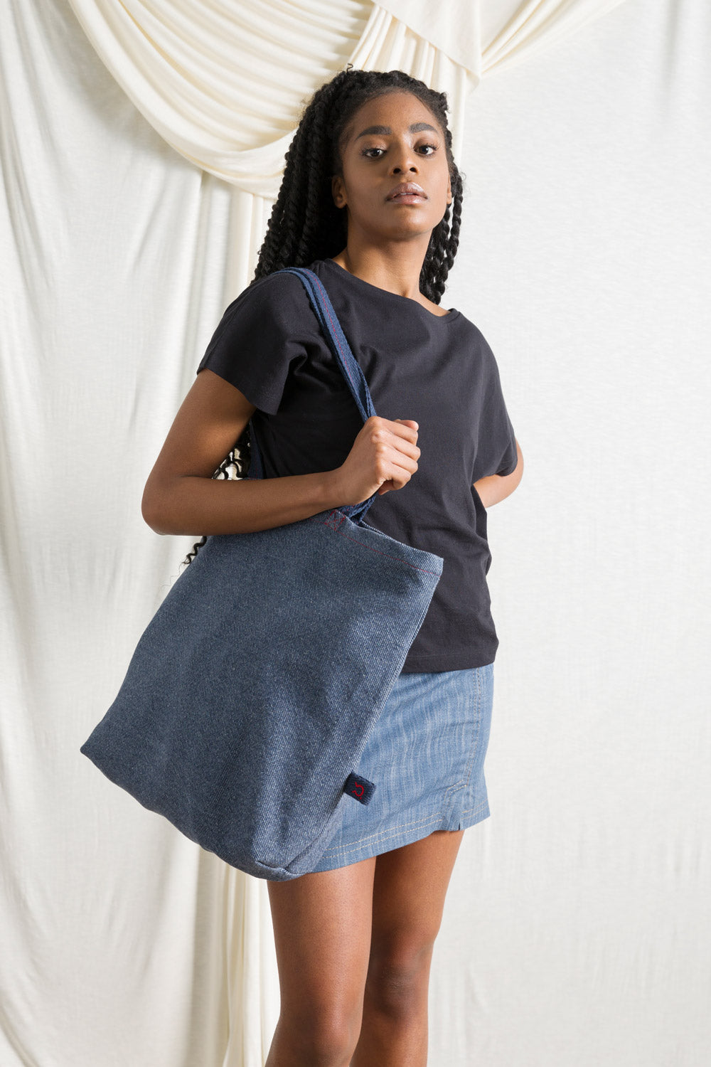 Recycled Cotton Jeans Maxi Shopper Ines