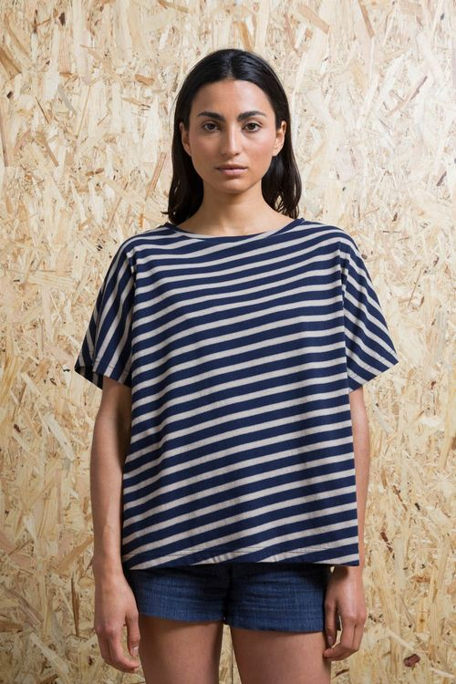 Recycled Cotton T-shirt Oversize Woman Swing