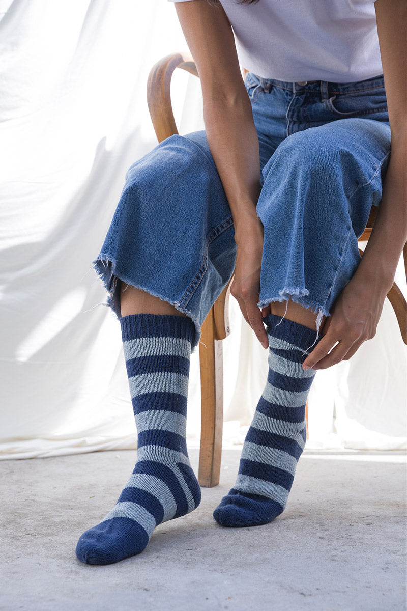 Recycled cotton jeans socks Amerigo