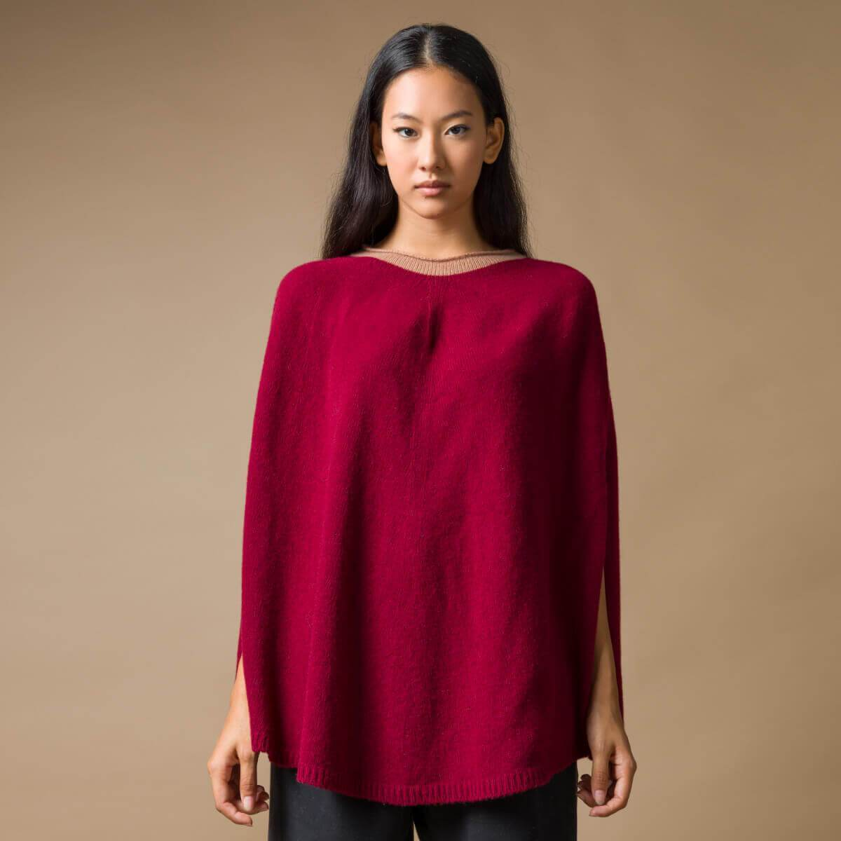 Recycled Cashmere Poncho Sophia