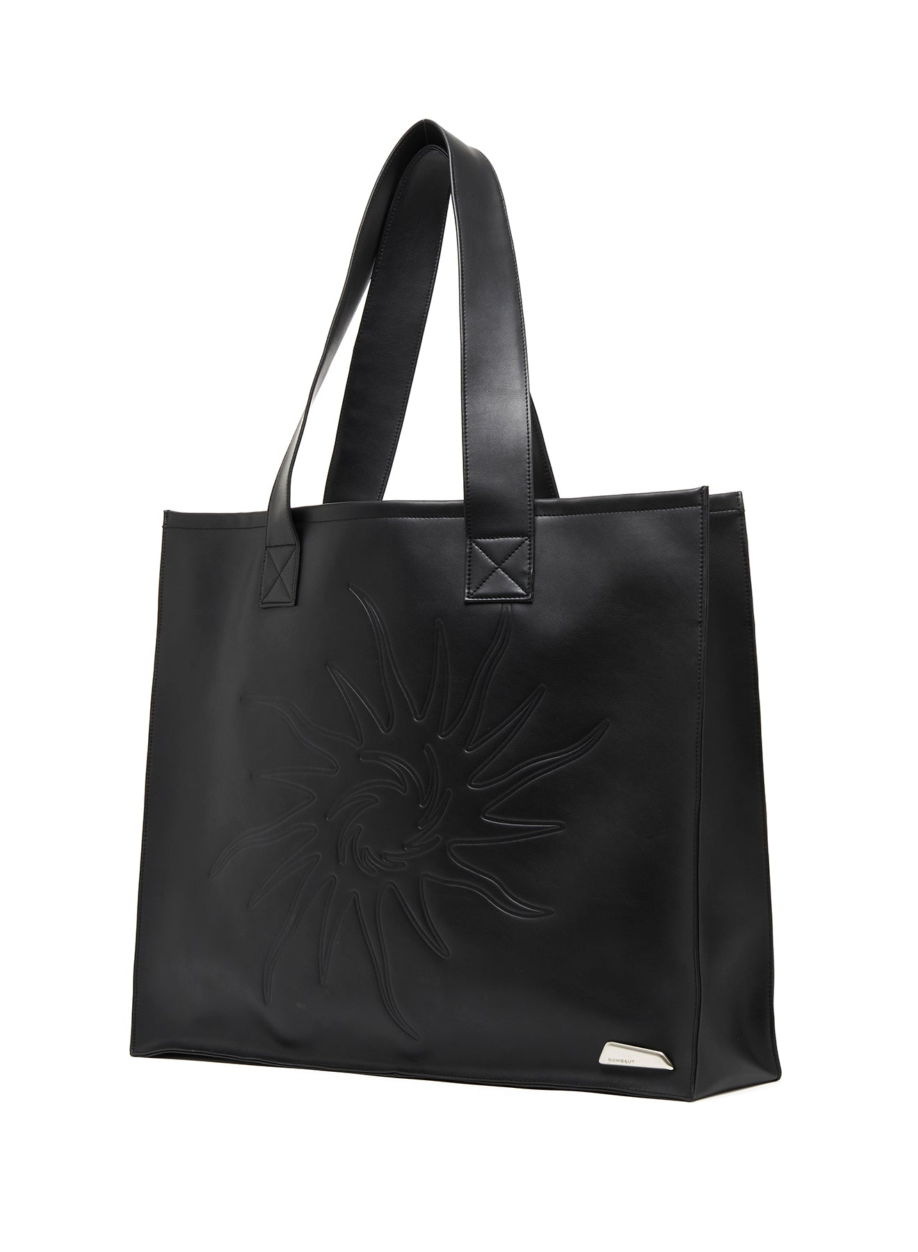 SHOPPING BAG FUTURE LEATHER BLACK