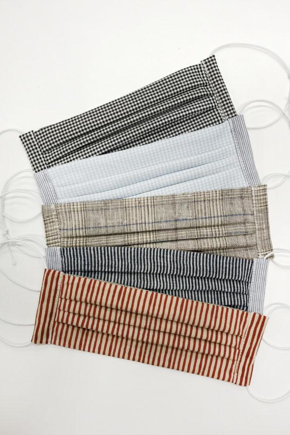 SABINNA Face Masks – Checks + Stripes Set