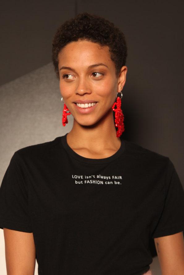 SABINNA Love Fair Fashion T-shirt Black