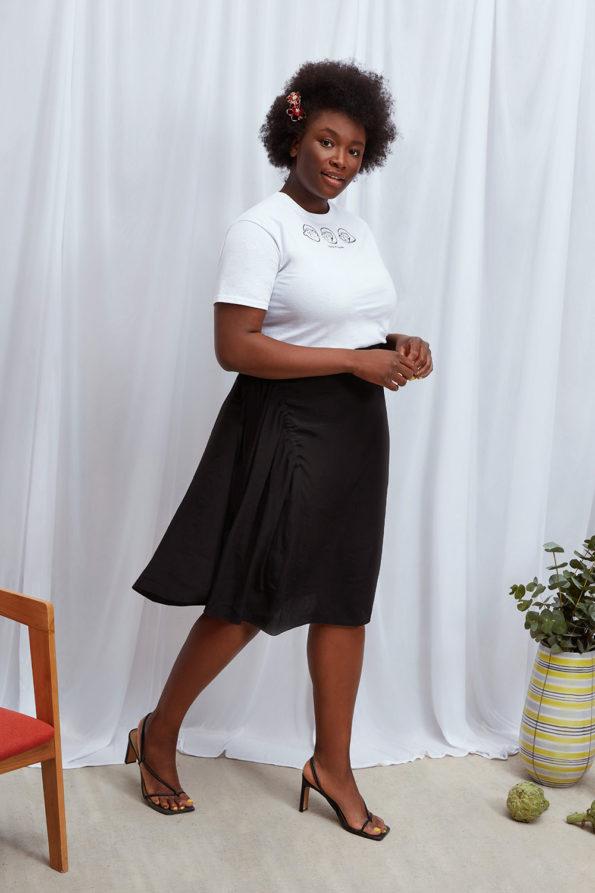 2 in 1 Sadie Skirt Black