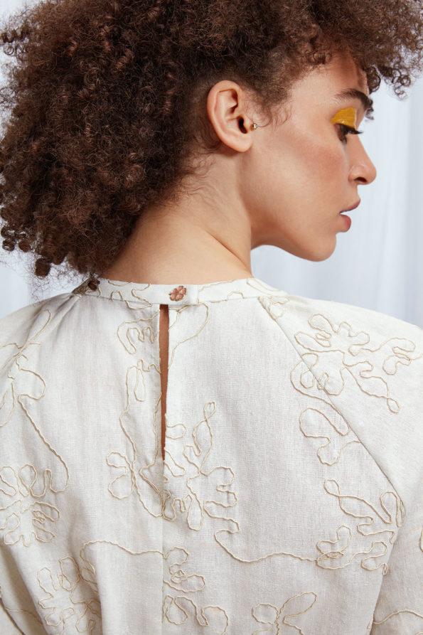 SABINNA Dress Cream White
