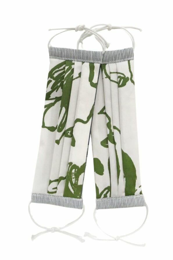 SABINNA Face Masks – Power Couple Set Green White Flowers