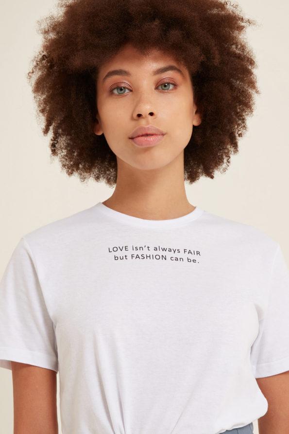 Love Fair Fashion T-shirt White