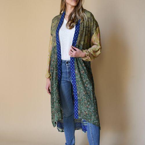 Morning Glory Long Kimono