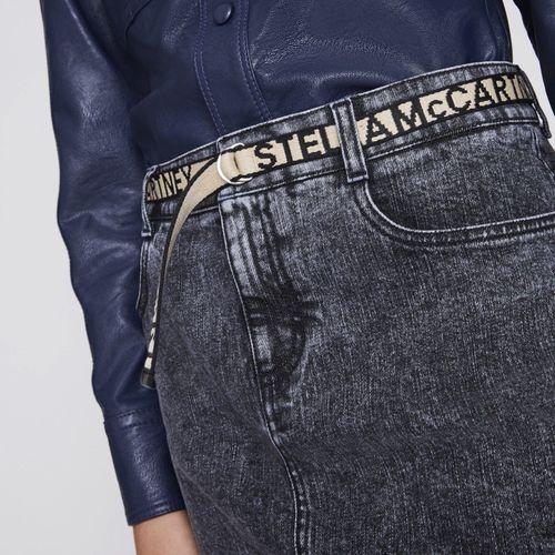 Stella Logo Denim Skirt Black