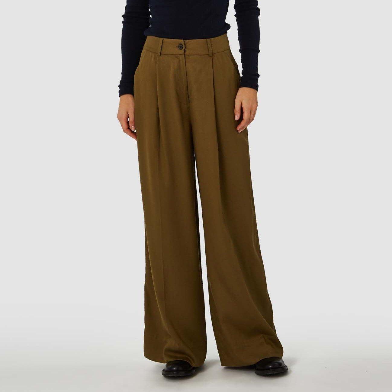 Rapunzel Trousers Olive Green Tencel