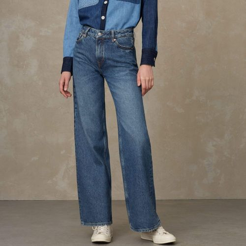 Jane High Waisted Jeans Eco Recycled Blue Used
