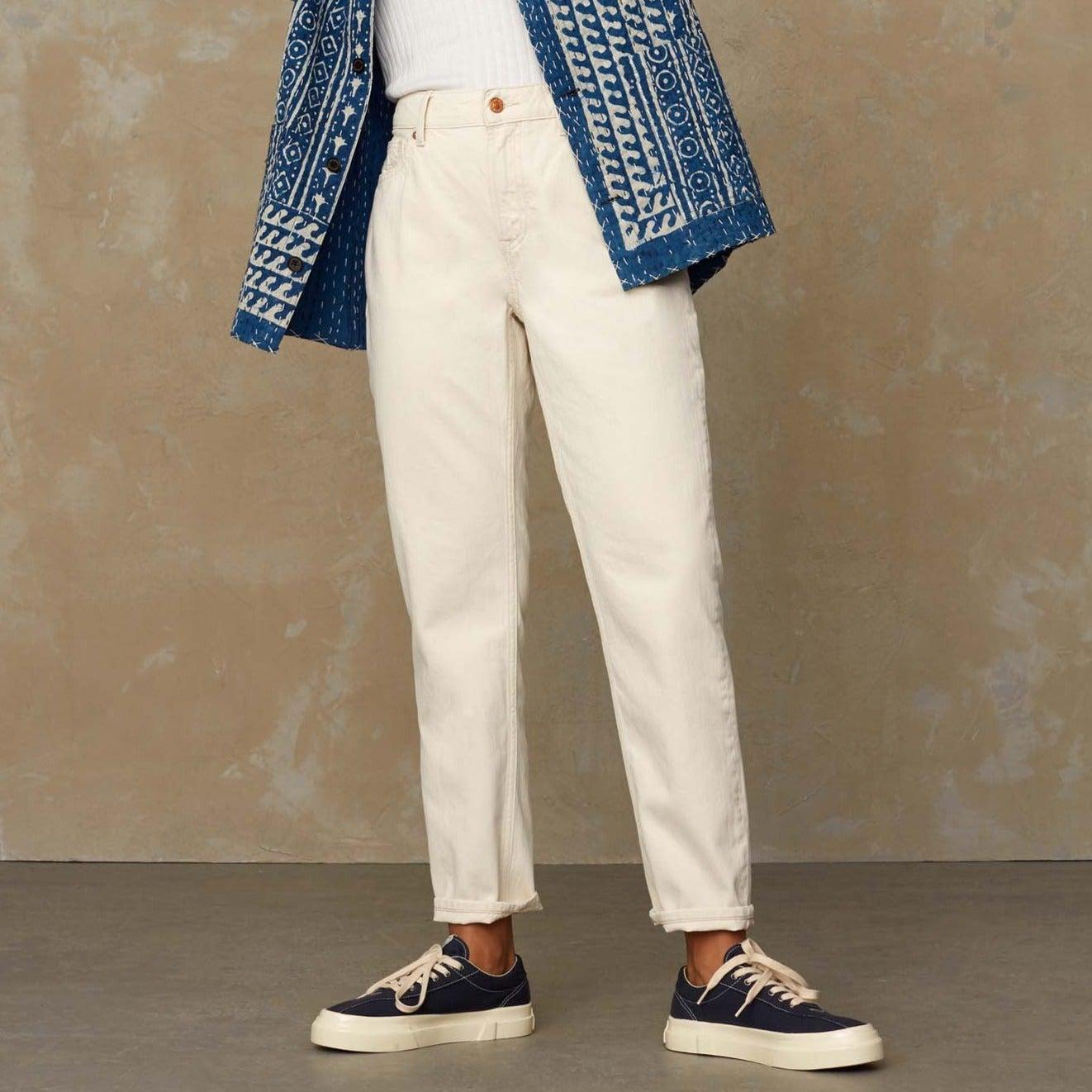 Caroline High Waisted Jeans Ecru
