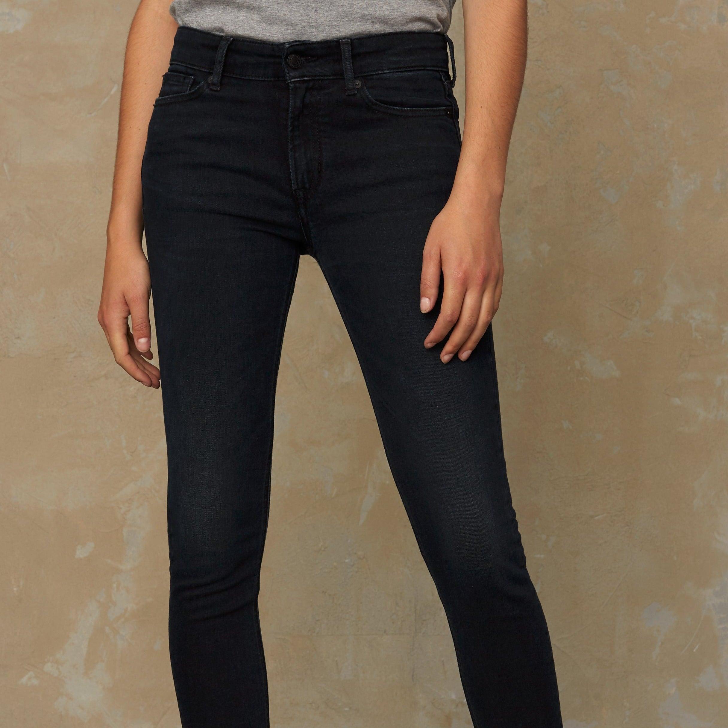 Kings of Indigo Juno High Slim Fit Jeans Blue Black Worn