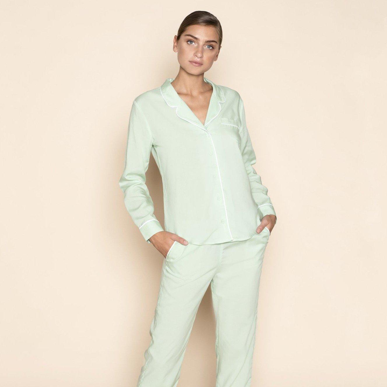 Pyjama Blouse Mint Green