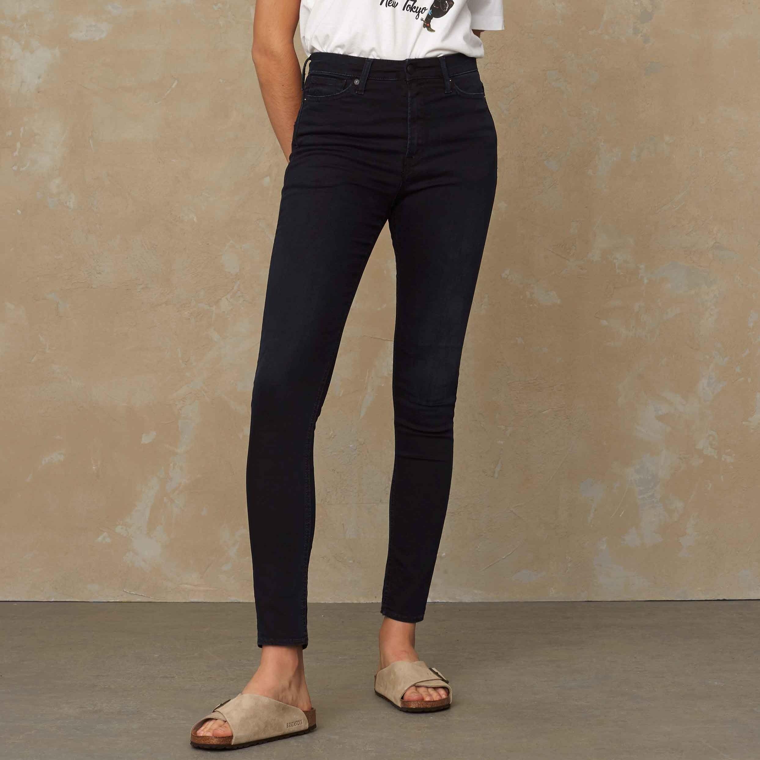Christina High Waisted Jeans Midnight Worn