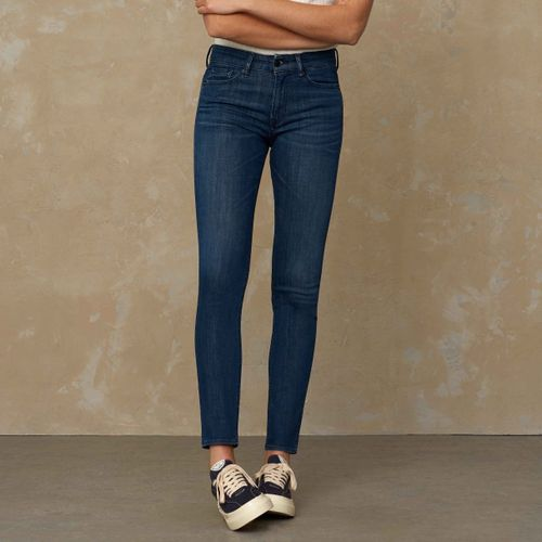 Juno High Slim Fit Jeans Gorbi Green Worn