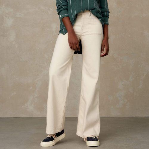 Jane Sailor High Waisted Jeans Ecru